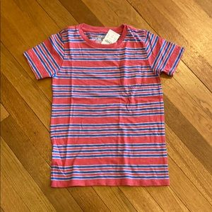 NWT Crewcuts striped tee. Size 6-7.